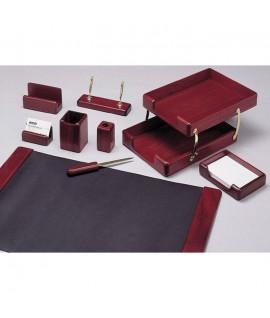 Набор для руководителя 12  предметов (вместе с ручками)  2 лотка  махагон (красное дерево)