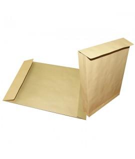 Конверт С4 с расширением на 4 см.-  цвет коричневый, отрывная лента