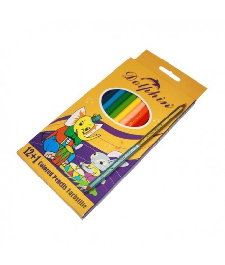 "Набор цветных карандашей  ""Dolphin"". 12 цветов"