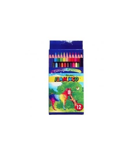 """Набор цветных карандашей """"Flamingo"""".  12 цветов"""