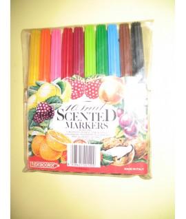 Фломастеры Fibracolor  c фруктовым запахом, 10 цветов