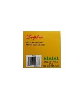 """Самоклеющийся блок """"Dolphin"""", 3*3, жёлтые, 100 листов"""