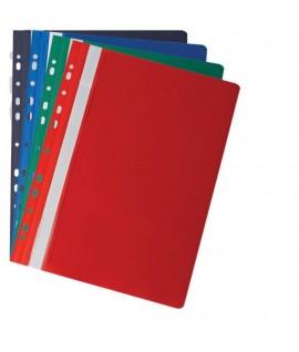 Скоросшиватель пластиковый ABL-10, с 10 файлами, с перфорацией