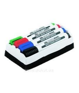Набор маркеров для доски TIP TOP - 4 цвета+ губка для доски