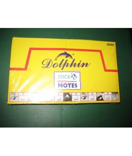 """Самоклеющийся блок """"Dolphin"""", 3*5, жёлтые, 100 листов"""