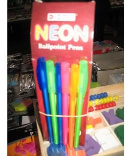 Шариковая ручка DOMS NEON . цвет чернил- синий
