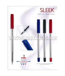 Ручка Cello Sleek  Цвет чернил-красный.
