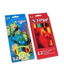 Набор цветных карандашей TIP TOP 12 цветов