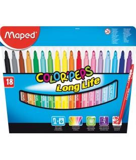 Фломастеры Maped Colorpeps 18 цветов