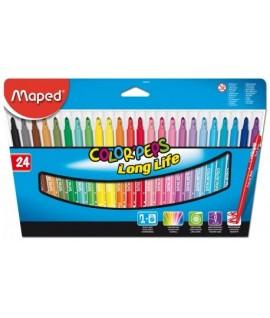 Фломастеры Maped Colorpeps 24 цветов