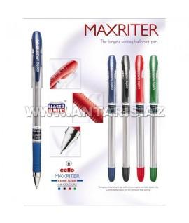 Шариковая ручка Cello Maxriter-оригинал. Цвет чернил: синий.